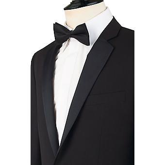Dobell Boys Black Tuxedo Dinner Jacket Regular Fit Notch Lapel