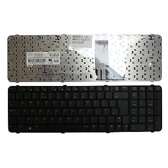 Teclado de ordenador portátil de reemplazo de HP Compaq 6830S negro Reino Unido diseño