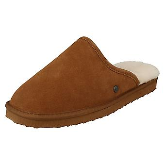 Mens Padders Genuine Lined Sheepskin Mule Slippers Nevis
