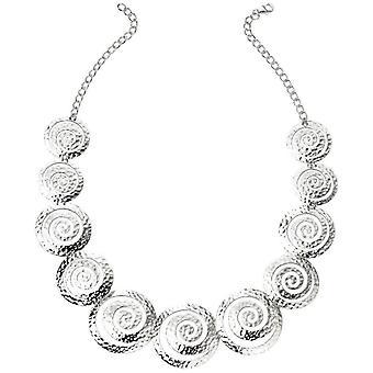 Beginnings Multi Swirl Textured Disc Bracelet - Silver