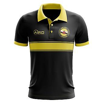 Brunei koncepcja koszula Polo z paskiem (czarny)