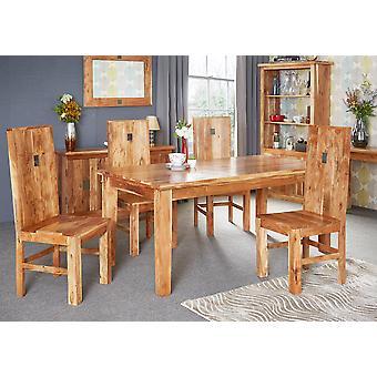 Tokyo Slate Acacia Dining Chair - A Pair