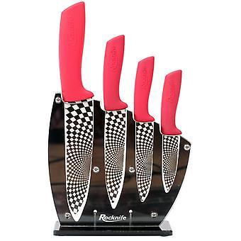 Conjunto de cuchillo de cocina de cerámica roja