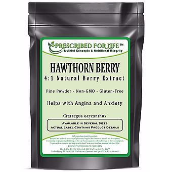 Hawthorn-4:1 Natural Berry Extract Powder (Crataegus pinnatifida)