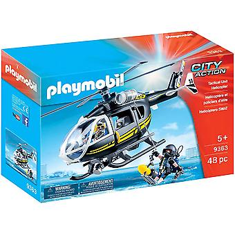 Playmobil 9363 City Action SWAT elicottero lavoro Winch