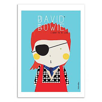 Art-Poster - David Bowie - Ninasilla