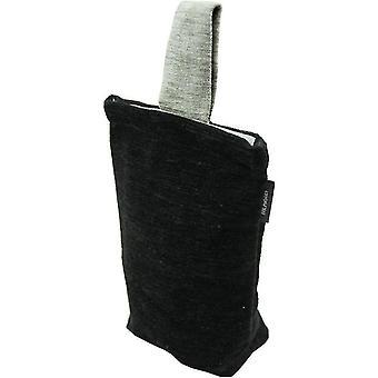Mcalister textiles alston chenille noir - arrêt de porte gris