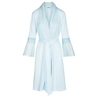 Féraud 3191126-11770 Dames's Couture Crystal Blue Cotton Dressing Gown Loungewear Robe