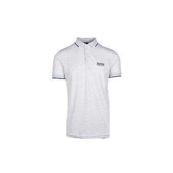 BOSS Athleisure Boss Paddy Pro Regular Fit Polo Shirt Grey Melange
