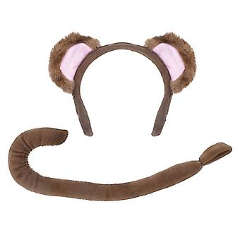 Bristol Novelty Childrens/Kids Monkey Ears And Tail Accessories Set