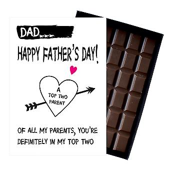 Funny Fathers dag gaver til pappa Presents for pappa Daddy 85g eske Chocolate FD107