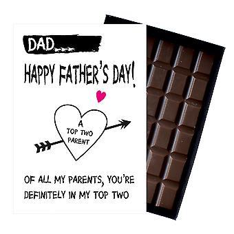 お父さんパパのための面白い父の日の贈り物は、お父さんパパ85g箱入りチョコレートFD107プレゼント