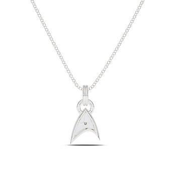 Star Trek Diamond Pendant Necklace In Sterling Silver Design by BIXLER