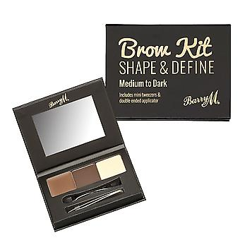 Barry M Brow Kit-Medium/Dark
