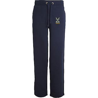 Highland Band do veterano escocês-licenciado British Army bordado aberto hem Sweatpants/jogging Bottoms