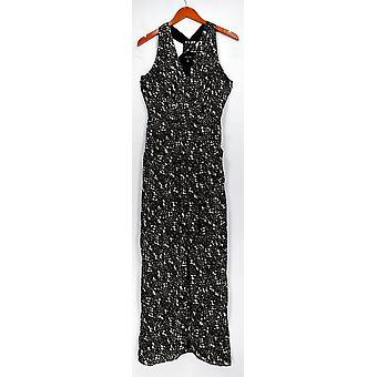 Ivy. Blu Dress Printed Sleeveless Layered Maxi Black