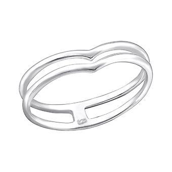 Сердце - 925 стерлингового серебра Обычная кольцо - W26824x
