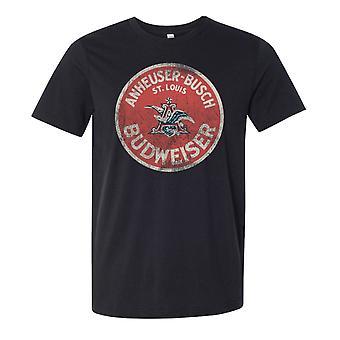Budweiser Vintage Circle Logo Deep Heather Tee Shirt
