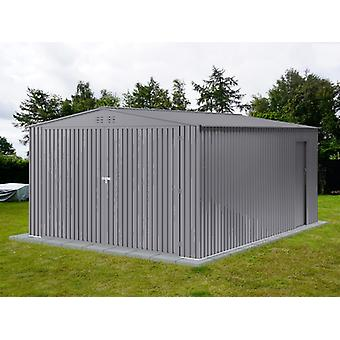 Metal garage 3.8x4.8x2.32 m ProShed®, Aluminium Grey