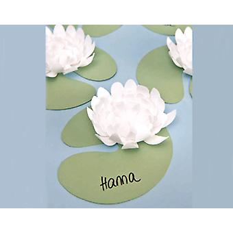 5 Diecut Water Lillies for Adults Craft - White | Paper Floristry Supplies