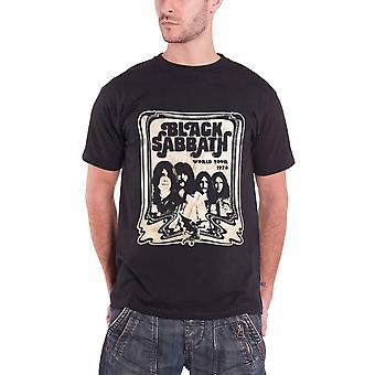 Black Sabbath World Tour 78 Jaotella Ammus virallisen miesten uusi musta T-paita
