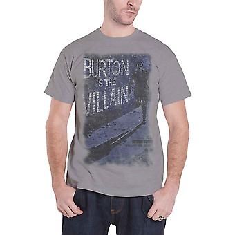 Studiocanal The Villain vintage movie poster new Official Mens Grey T Shirt