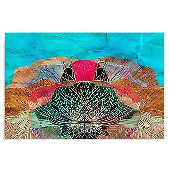 Lona, retrato na lona, abstracção da flor