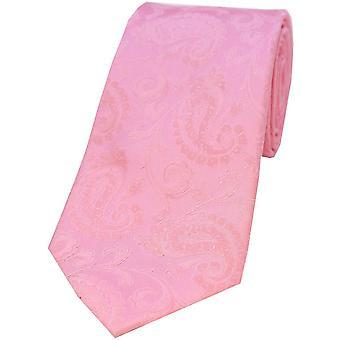 David Van Hagen Paisley Silk Tie - Baby Pink