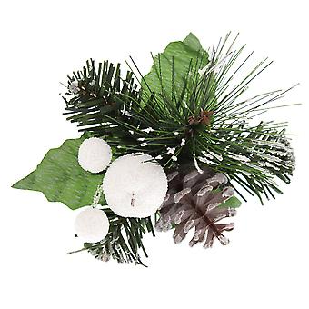 White Pine, Pine Cone & Baubles Christmas Pick for Crafts