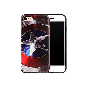 Iphone 6+/6S+ Plus Avengers Soft Cover Case Captain America
