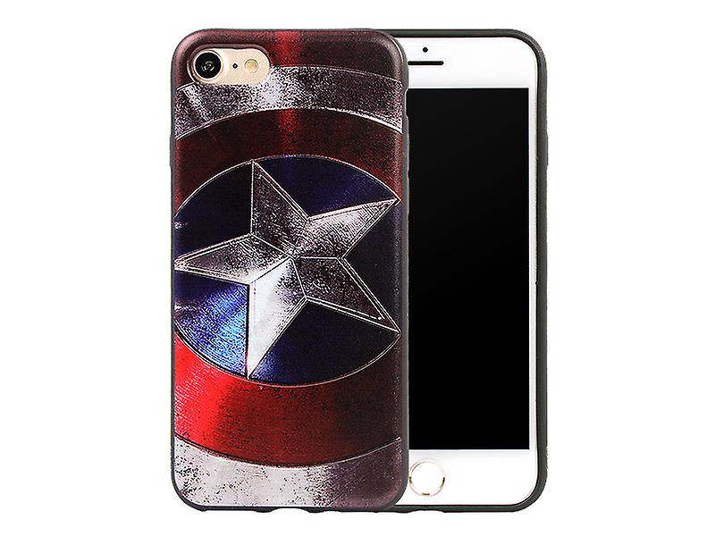 Iphone 6+/6S+ Plus Avengers Soft Cover Case Captain America