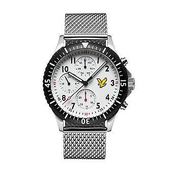 Lyle et Scott LS-6008-22 Hommes-apos;s Golden Eagle White Dial Wristwatch
