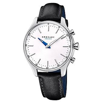 Kronaby S0657-1 Women's Sekel Hybrid Smartwatch With Black Leather