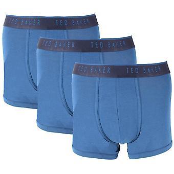 Ted Baker Basics 3 Pack Trunks - Poseidon Blue