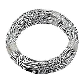 Steel cable zinc plated (Ø x L) 3 mm x 20 m dörner + helmer 190381 Grey