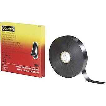 3M 7000031345 Electrical tape Scotch™ 22 Black (L x W) 33 m x 38 mm 1 Rolls