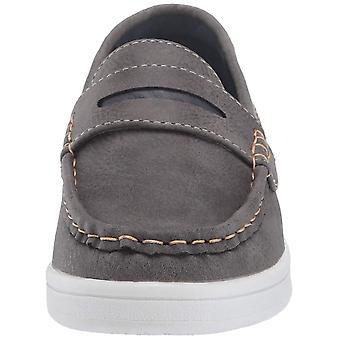 Kids Steve Madden Boys Bsharper Leather Slip On Loafers