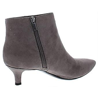Naturalizer Womens Giselle Faux Suede Ankle Booties Gray 7 Medium (B,M)