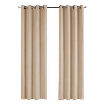 "54"" x 84"" Beige, Room Darkening - Curtain Panel 2pcs"