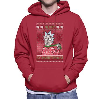 Rick and Morty Christmas Merry Schwiftmas Men's Hooded Sweatshirt