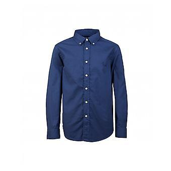 Polo Ralph Lauren Kinderenswear knop ingedrukt kledingstuk geverfd twill overhemd