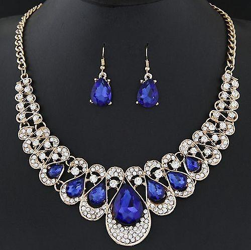 Crystal statement necklace & earring set
