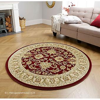 Mulan Red Circle Rug