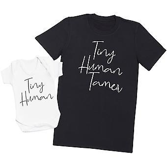 Tiny Human - Mens T Shirt & Baby Bodysuit