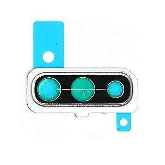 حقيقي سامسونج غالاكسي A50 - SM-A505 - حامل عدسة الكاميرا - أبيض - GH98-44064B