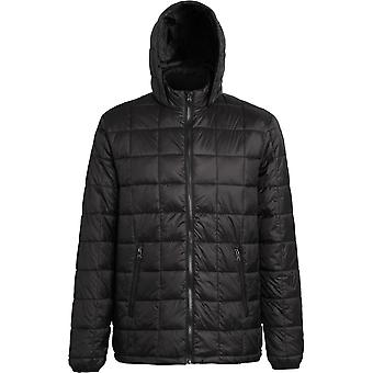 Outdoor Look Mens Box Quilt Lightweight Warm Hooded Jacket