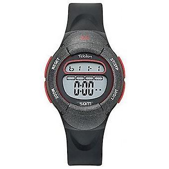Digital Watch For Children Tekday 654155 - Silicone Black and Grey Bo tier bracelet