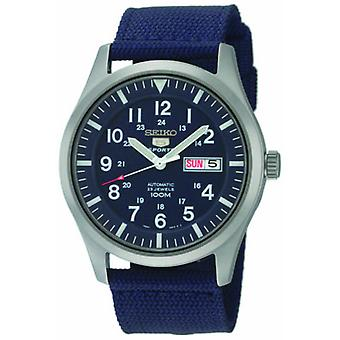 Seiko 5 Sports Automatic Blue Dial Blue Canvas Strap Men's Watch SNZG11K1