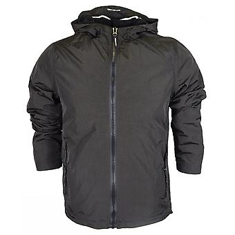 Weekend Offender Marciano Nylon Zip Up Hooded Black Jacket