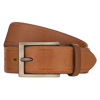 bugatti Belt Men's Belt Leather Belt Brandy 8508